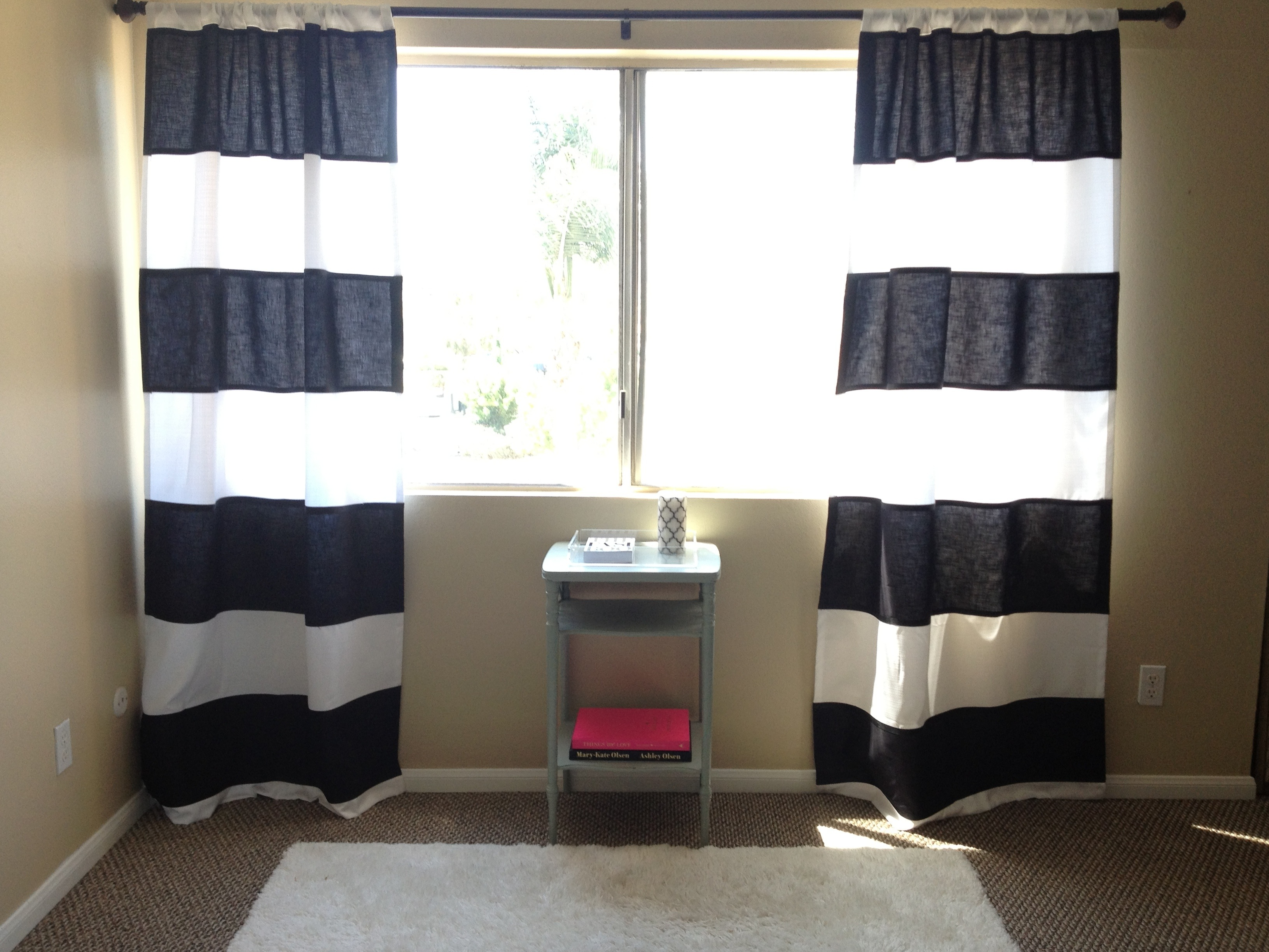 No-Sew Striped Curtains